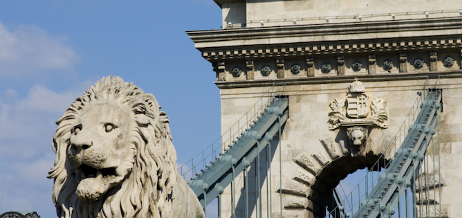 Stone Lion from the Chain Bridge