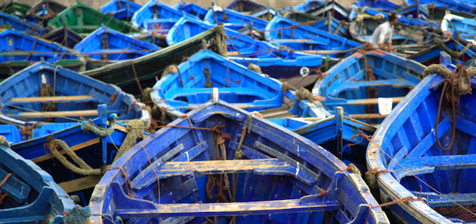 Moroccan Blue Fishing Boats